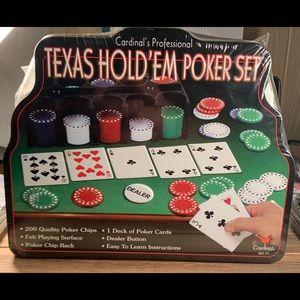 New (Sealed) Texas Hold'Em Poker Set